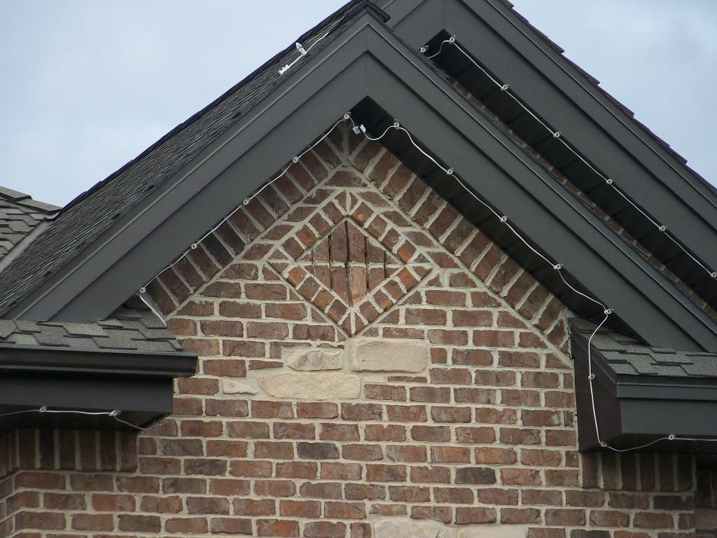 Window and brick designs for Gable designs